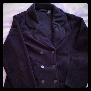 Stephanie Rogers Jackets & Coats - Black fleece double breasted jacket. Size M.
